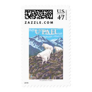 White Mountain Goat FamilyUtah Postage