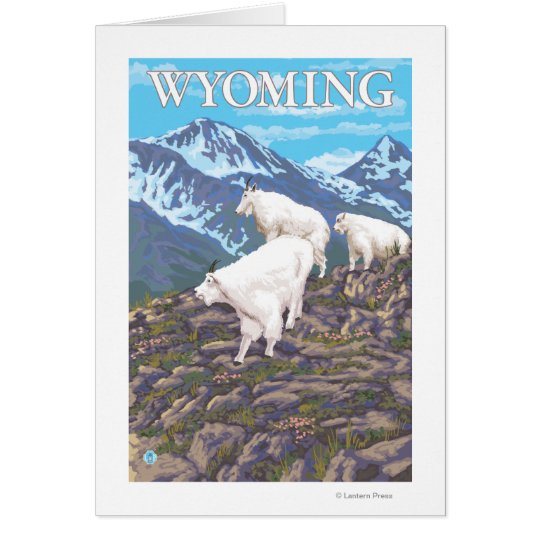 White Mountain Goat FamilyWyoming Card