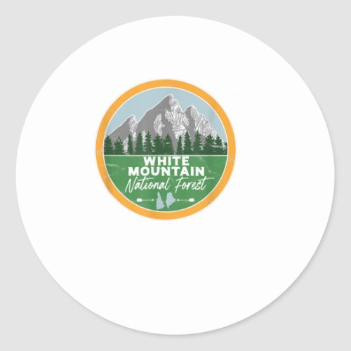 White Mountain National Forest New Hamps Classic Round Sticker