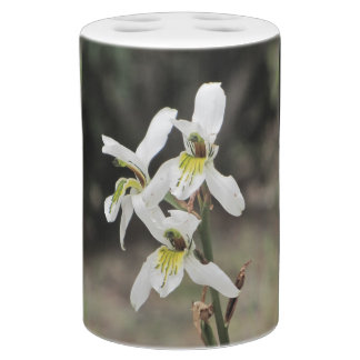 White Mountain Orchid Bath Accesories Set