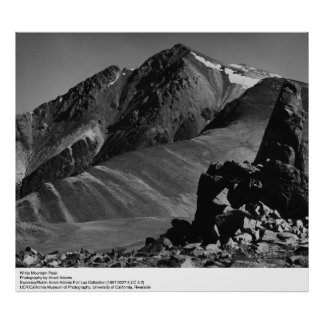 White Mountain Peak by Ansel Adams Poster