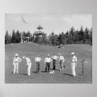 White Mountains Golfers, 1910 Poster