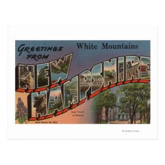 White Mountains, New Hampshire 3 Postcard