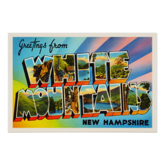 White Mountains New Hampshire NH Travel Souvenir Poster
