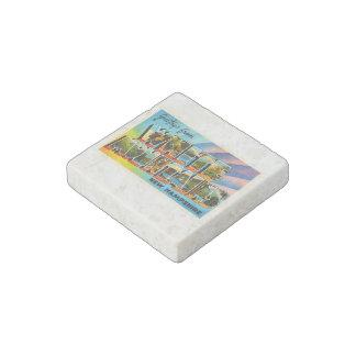 White Mountains New Hampshire NH Travel Souvenir Stone Magnet