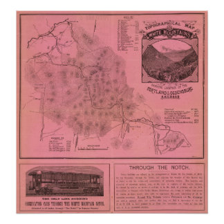 White Mountains top map Poster