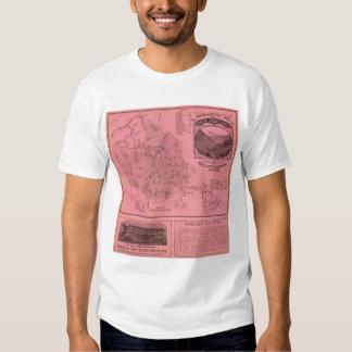 White Mountains top map Tshirts