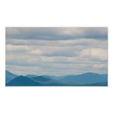 Art Themed White Mountains under a cloudy sky, New Hampshire Poster