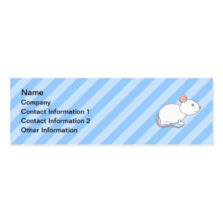 White Mouse. Business Card Template