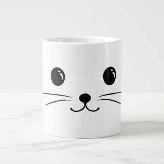 White Mouse Cute Animal Face Design Giant Coffee Mug