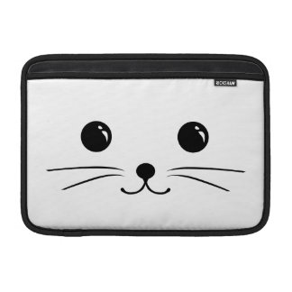 White Mouse Cute Animal Face Design MacBook Sleeves