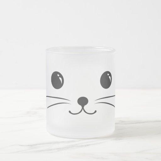 White Mouse Cute Animal Face Design Mugs