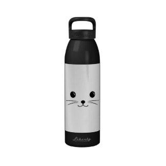 White Mouse Cute Animal Face Design Reusable Water Bottle