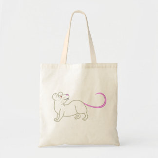 White Mouse Tote Bag