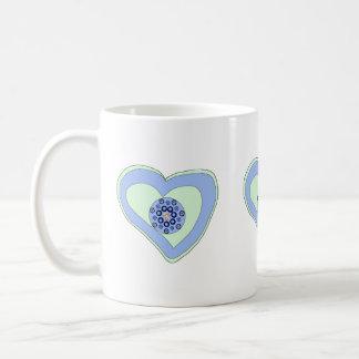 White Mug/Giardelli Chocolate gift/heart diamond Coffee Mug