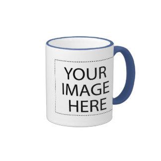 White mug powder blue trim Two-Image Template 11oz