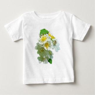 White Multiflora Roses Wildflower T-shirt
