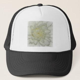 White Mum Bloom Trucker Hat