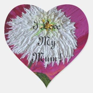 White Mum Mother's Day Sticker