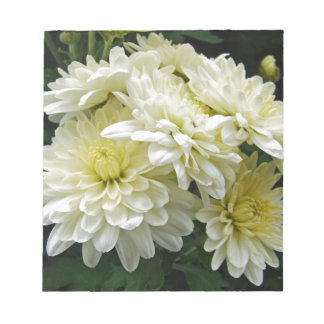 White Mums I Note Pad