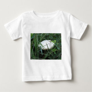 White mushroom on a green meadow tee shirt