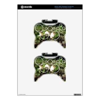 White mushrooms on green background xbox 360 controller decal