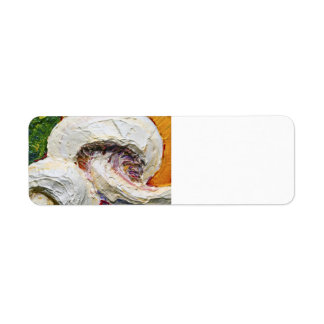 White Mushrooms Return address Label
