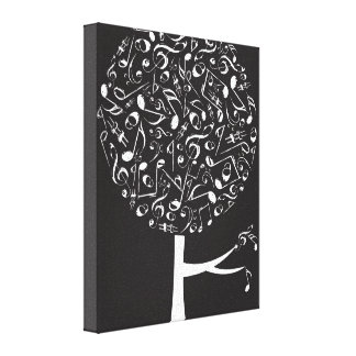 White Musical Notes Pop Tree Nursery Wall Art