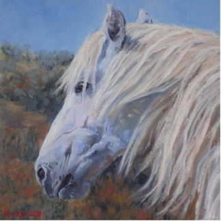 White Mustang Photo Sculpture