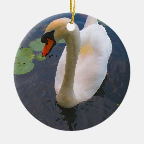 White mute swan Ornament