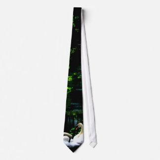 White Mute Swans Neck Tie