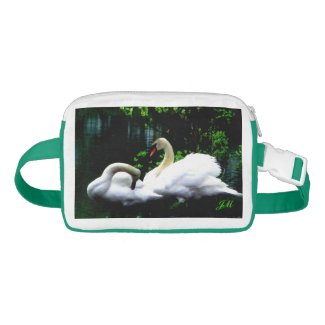 White Mute Swans Personalized