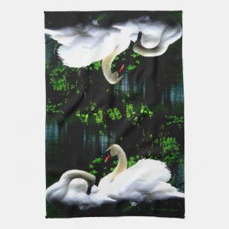 White Mute Swans Towel
