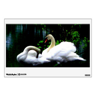 White Mute Swans Wall Decal