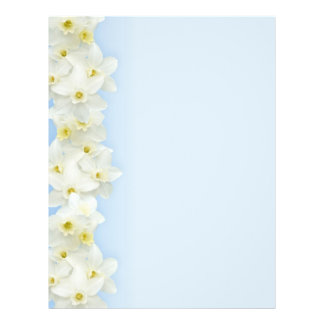White narcissus border blank flyer