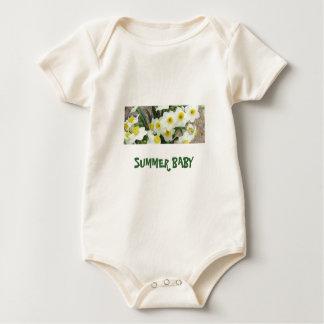 White Narcissus Flowers Baby Shirt