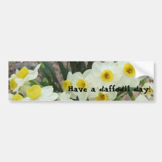 White Narcissus Flowers Bumper Sticker Car Bumper Sticker