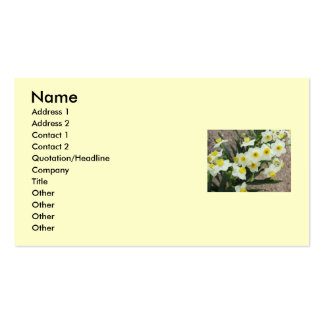 White Narcissus Flowers Business Card
