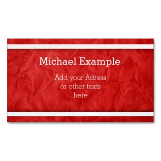 White Narrow Stripes + your backgr. & text Business Card Magnet