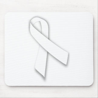 White National Day of Remembrance Ribbon Mouse Pad
