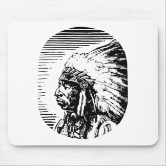 White Native American Mouse Pad