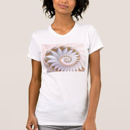 White Nautilus Cute Abstract Seashell Art T-Shirt