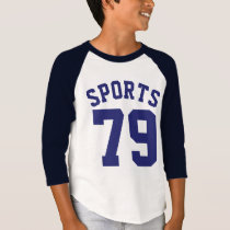 White & Navy Blue Kids | Sports Jersey Design T-Shirt