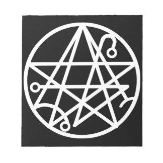 White Necronomicon Seal Notepad