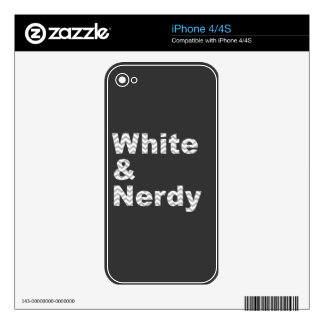 White Nerdy Design Decal For iPhone 4S