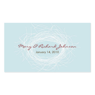 White Nest Favor Tag Business Cards