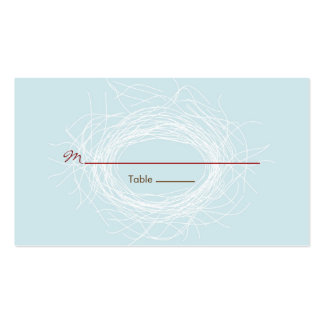 White Nest Favor Tag Business Card