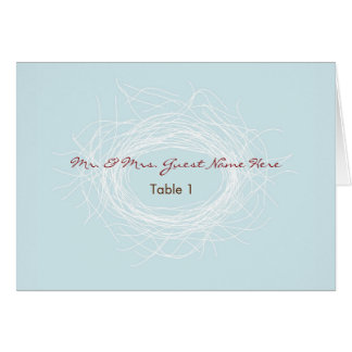 White Nest Place Card