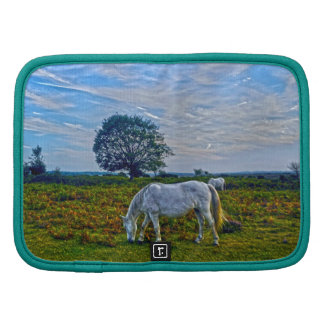 White New Forest Ponies - Wild Horse - England Planner
