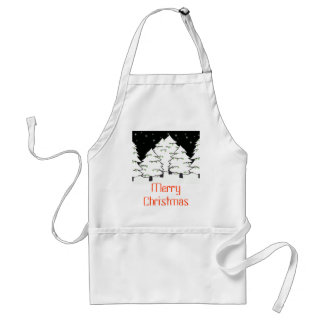 White Night - MerryChristmas - Customized Adult Apron